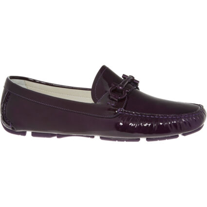 Purple Patent Leather Loafers