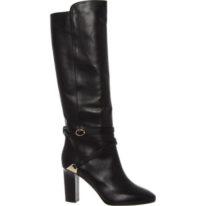Black Calf High Leather Boots