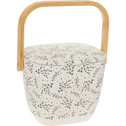 White Patterned  Compost Bin