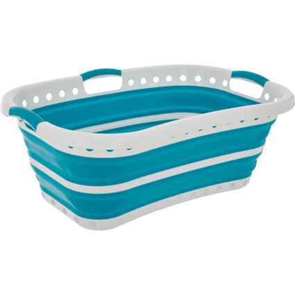White Collapsable Laundry Basket