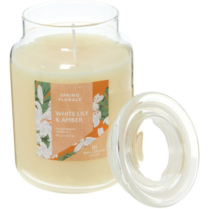 White Lily & Amber Scented Candle 632g