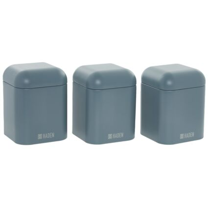 Blue Three Piece Canister Set