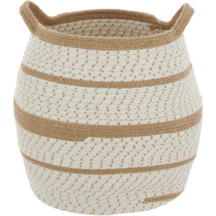 Brown Woven Belly Basket
