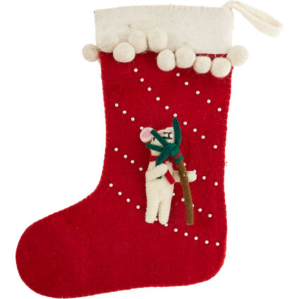 Red Mouse Stocking 45.5x33.5cm