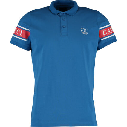 Classic Blue Branded Polo Shirt